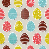 Seamless bright easter pattern with colorful eggs — Stock Vector