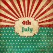 Vintage template for 4th of July, Independence day poster with stars and lines - Stockvectorbeeld