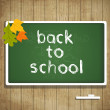 Back to school autumn card with leaves — Stock Vector