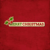 Merry Vintage Christmas card with stylized sticker — Stock Vector