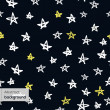 Seamless pattern with doodled stars  in childish style — Stock Vector
