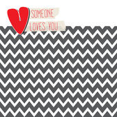 Someone Loves You card — Stock Vector