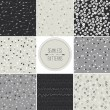Set of seamless patterns in gray tones — Stock Vector