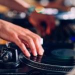 DJ hands on equipment — Stock Photo #49367749