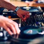 DJ hands on equipment — Stock Photo #49367863