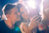 Party people taking selfie — Stock Photo