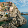 Village of Manarola, Cinque Terre, Italy - Stock Photo