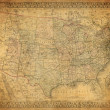 Stock Photo: Vintage map of United States 1867