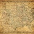 Vintage map of United States 1867 — Stock Photo #17149509