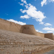 Walls of an ancient city of Khiva, Uzbekistan - Stock Photo