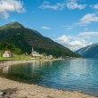 Stock Photo: View of Lustrafjorden, Norway