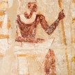 Picture of pharaoh on the wall, Saqqara, Egypt - Stock Photo