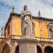 Monument of Dante, Verona, Italy - Stock Photo