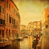 Vintage image of Venetian canals, Italy — Stock Photo