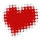 Rasterized image of heart — Stock Photo