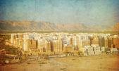 Vintage image of Shibam, Hadhramaut province, Yemen — 图库照片