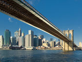 Brooklyn bridge, Nova Iorque, EUA — Fotografia Stock
