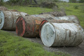 Grunge barrels — Stock Photo