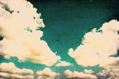 Imagem retrô de céu nublado — Foto Stock