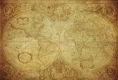 Vintage map of the world 1630 — Stock Photo