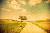 Grunge image of countryside road — Foto de Stock