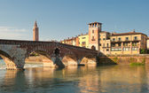 Ponte Pietra bridge, Verona, Italy — Stock Photo