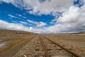Railroad tracks to nowhere — Stock Photo