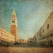 Vintage image of Piazza San Marco — Stock Photo