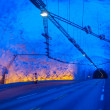Laerdal tunnel, Norway, the longest road tunnel in the world — Stock Photo