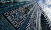 Blue tiled facades of Shahi-Zinda Necropolis, Samarkand, Uzbekis — Stock Photo