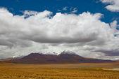 Picos nevados de las montañas — Foto de Stock