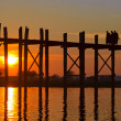 Stock Photo: U Bein bridge, Mandalay, Myanmar