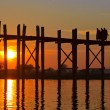 U Bein bridge, Mandalay, Myanmar - Foto Stock