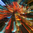 Traffic lights in motion blur — Foto Stock