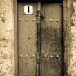 Close-up image of ancient doors — Stock Photo