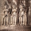 Apsara dancers, bas-relief of Angkor, Cambodia — Stock Photo #17419957
