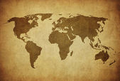 Vintage map of the world — Stockfoto