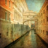 Vintage image of Bridge of Sighs, Venice — Stock Photo