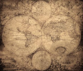 Vintage map of the world circa 1675-1710 — ストック写真