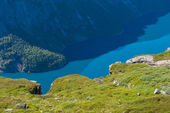 View of lake Ringedalsvatnet, Norway — Stockfoto