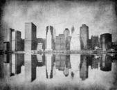 Grunge image of new york skyline — Stock Photo