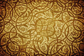 Grunge background with oriental ornaments — Stock Photo