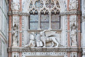 Architectural details of Doge's Palace, Venice, Italy — Foto de Stock