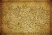 Vintage map of the world 1856 — Stock Photo