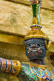 Statue of demon at Wat Phra Kaew, Bangkok — Stock Photo