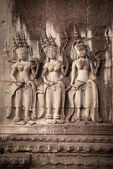 Apsara dancers, bas-relief of Angkor, Cambodia — Stock Photo