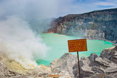 Kawah Ijen volcano, Java, Indonesia — Foto Stock