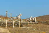 The Terrace of the Lions, Delos island, Greece — Stock fotografie