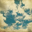 Stock Photo: Retro image of cloudy sky