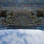 Iwan of the mosque, oriental ornaments from Samarkand, Uzbekista — Stock Photo #17420125